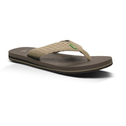 Sanuk Yogi 3 Men's Flip-Flops 10 Natural