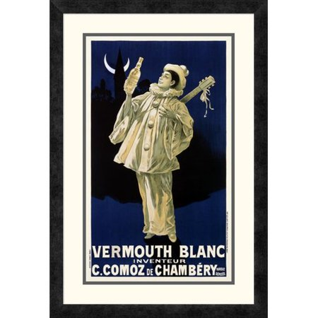 Blanc Vermouth (Global Gallery 'Vermouth Blanc / C. Comoz de Chambery' Framed Vintage)
