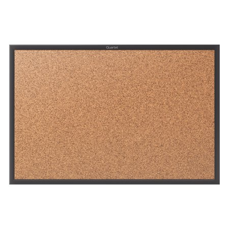 French Bulletin Board (Quartet Classic Cork Bulletin Board, 3' x 2', Black Aluminum Frame)