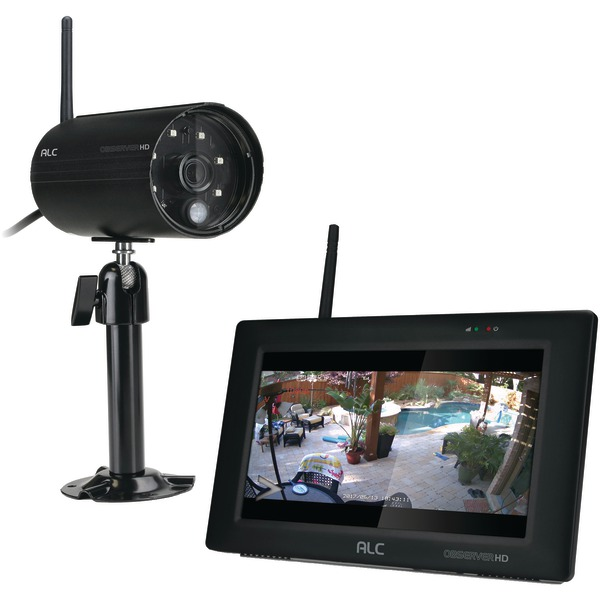 """Alc Aws337 Observerhd 1080p Full Hd 4-channel 7"""" Touchscreen Monitor With 1 Camera"""