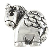 Metal Marketplace International Sterling Silver Unicorn Charm Bead