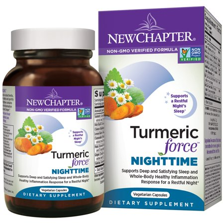 Force 60 Capsules - New Chapter Turmeric Force Nighttime Vegetarian Capsules, 60 Ct
