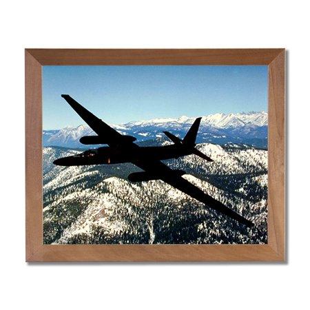 USAF U2 Spy Plane Jet Airplane Wall Picture Honey Framed Art