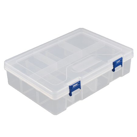 Unique Bargains Desktop Tool Part Hardware Plastic Adjustable Storage Sorter Case Box Organizer](Plastic Desk Organizer)