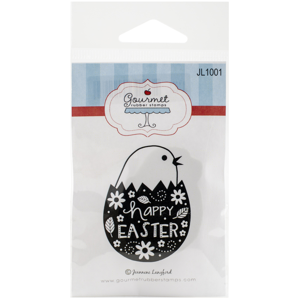 "Gourmet Rubber Stamps Cling Stamps 2.75""X4.75""-Happy Easter Egg"