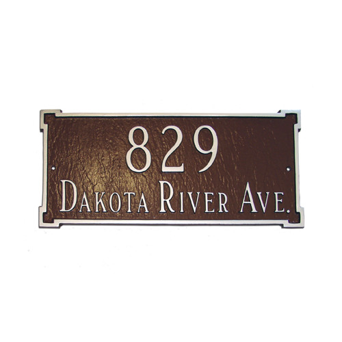 Montague Metal Products Inc. New Yorker Standard Address Plaque