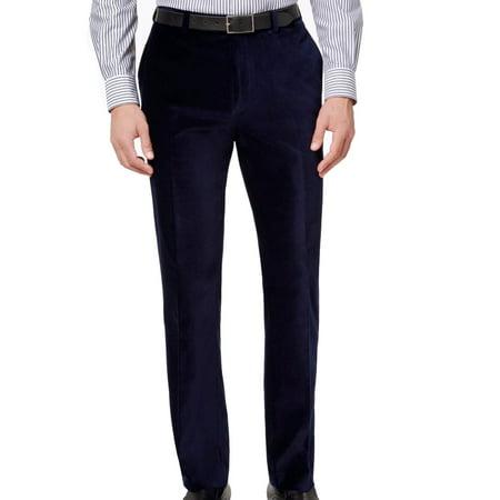 Calvin Klein Men 33X34 Velvet Dress Flat Front Stretch Pants
