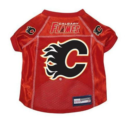 Calgary Flames Dog Pet Premium Hockey Jersey LARGE