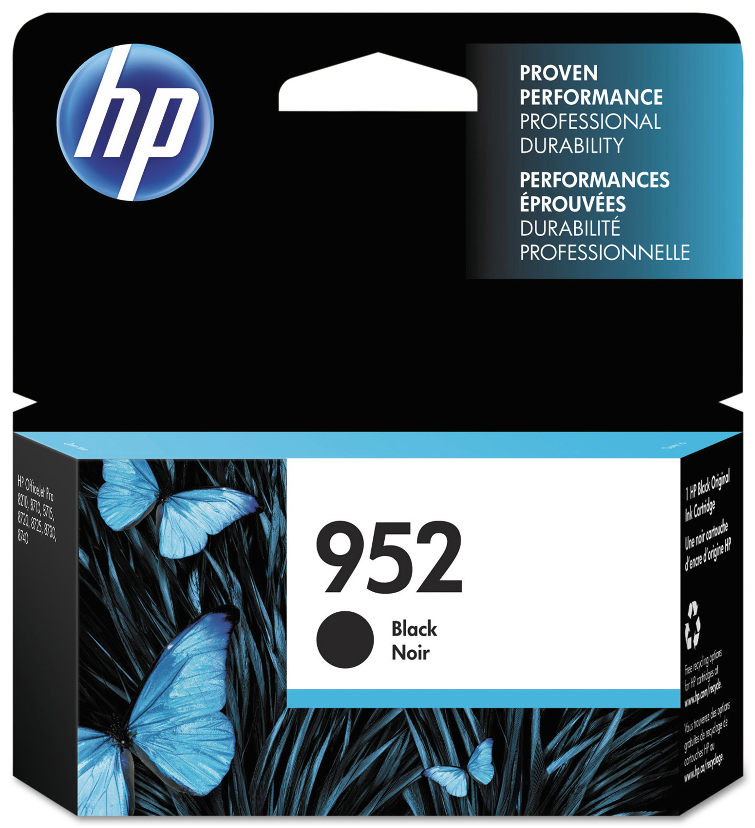 HP 952 Black ink cartridge (F6U15AN)
