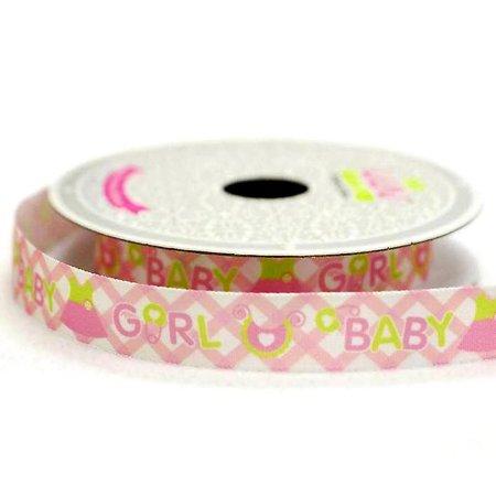 Efavormart Pink Wedding Banquet MY BABY GIRL Satin Ribbon - 5/8