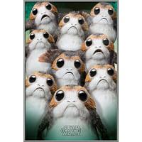 "Star Wars: Episode VIII - The Last Jedi - Movie Poster / Print (Many Porgs) (Size: 24"" x 36"")"