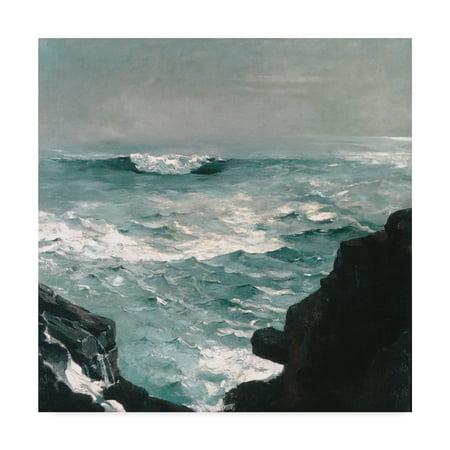 (Trademark Fine Art 'Cannon Rock, 1895 ' Canvas Art by Winslow Homer)