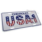 SmallAutoParts Aluminum License Plate - Chevrolet Usa - 1