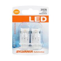 Sylvania 3157A Amber LED Automotive Mini Bulb, Pack of 2.