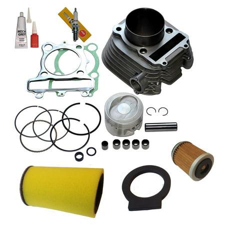 Top Notch Parts Yamaha Timberwolf 250 Cylinder Piston Gasket Top End Kit Set 1992-2000 (Kit Top End Set)