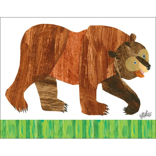 Oopsy Daisy Brown Bear by Eric Carle Canvas Art