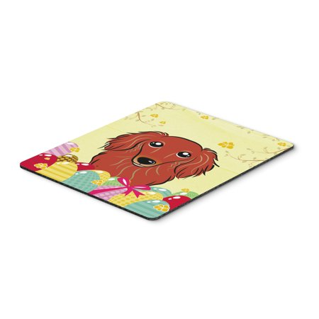 Carolines Treasures BB1896MP Longhair Red Dachshund Easter Egg Hunt Mouse Pad, Hot Pad or