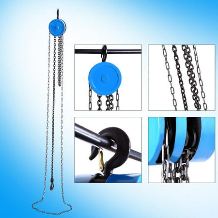 Anauto 1pc Pulley Chain Block Chain Hoist Cable Hand Control Pulley Crane, Pulley Lifting,Pulley