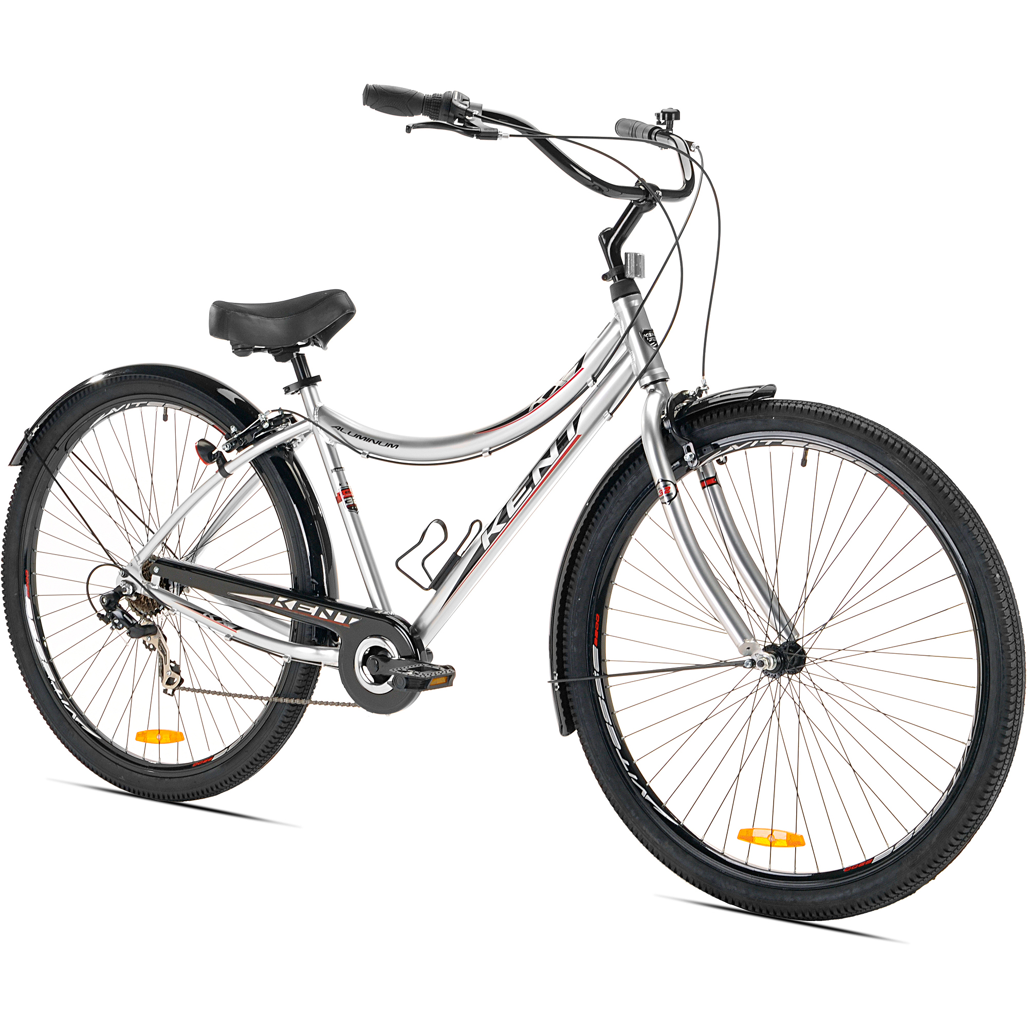 "32"" Kent KX-7 Men's Cruiser Bike, Silver"