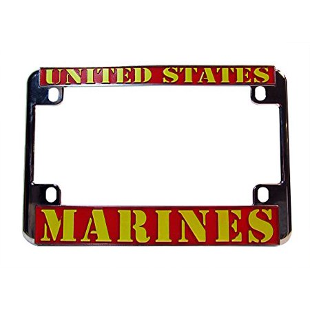 United States Marines Chrome Motorcycle License Plate Frame USMC ...