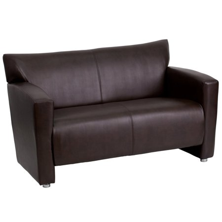 Flash Furniture Hercules Majesty Series Leather Love (Aluminum Loveseat)