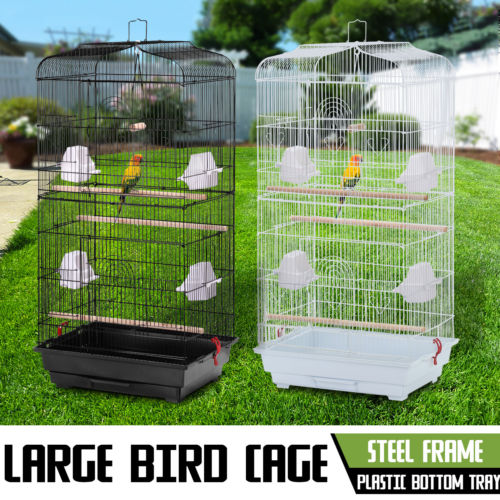 "Zimtown Large Bird Parrot Cage Canary Parakeet Cockatiel LoveBird Finch 37"" Bird Cage Include Wood Perches & Food Cups"