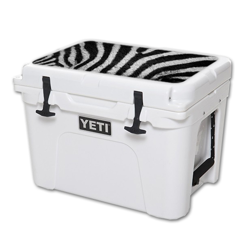 MightySkins Protective Vinyl Skin Decal for YETI Tundra 35 qt Cooler Lid wrap cover sticker skins Zebra