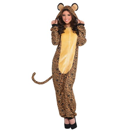 Leopard Adult Onesie Costume](Party City Leopard Costume)