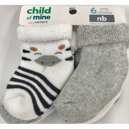 Child of Mine Newborn Roll Socks, 6 Pack
