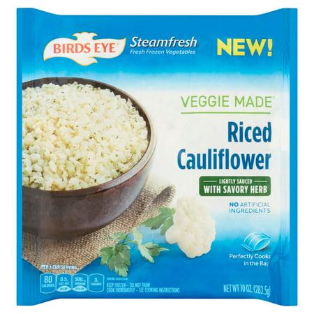 Birds Eye Veggie Made Riced Cauliflower Savory Herb 10 Oz