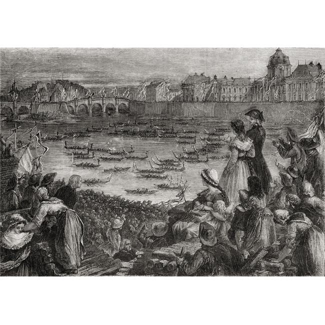 Posterazzi DPI1858136LARGE Joust On The Water To Commemorate The Grande Federation From Histoire De La Revolution Francaise by Louis Blanc 36 x 24 Poster Print, Large - 36 x 24 - image 1 of 1