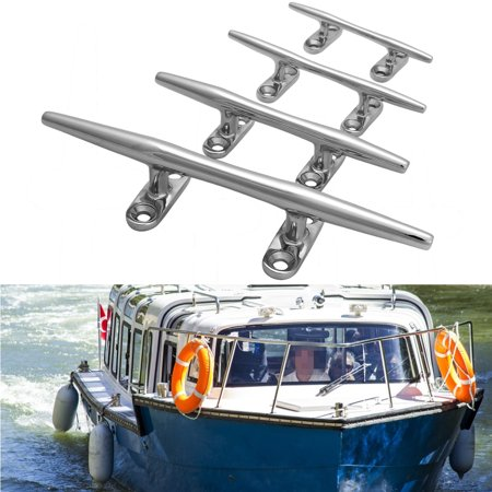 Multi-size Yacht Boat Stainless Steel Round Lock Bolt Heavy Duty Boat Base Dock Deck Line Rope Cleat Stainless Marine Bollard Yacht (Dock Boat Cleat)