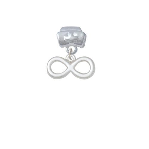 Medium Infinity Sign - Nurse Hat Charm Bead