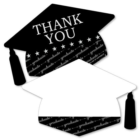 Graduation Cheers - Shaped Thank You Cards - Graduation Party Thank You Note Cards with Envelopes - Set of 12](Graduation Party Card Box)