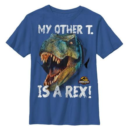 Jurassic Park Boys' Other T is a Rex T-Shirt](Boy From Jurassic Park)