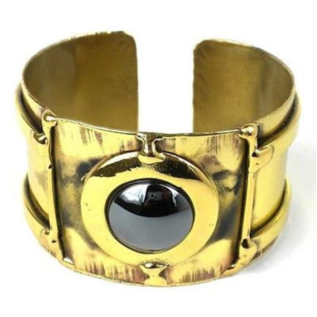 Brass Images Between the Lines Hematite Brass Cuff
