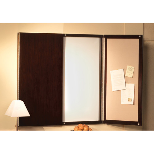Mayline Group Sorrento Series Presentation Magnetic Enclosed Whiteboard, 4' H x 4' W