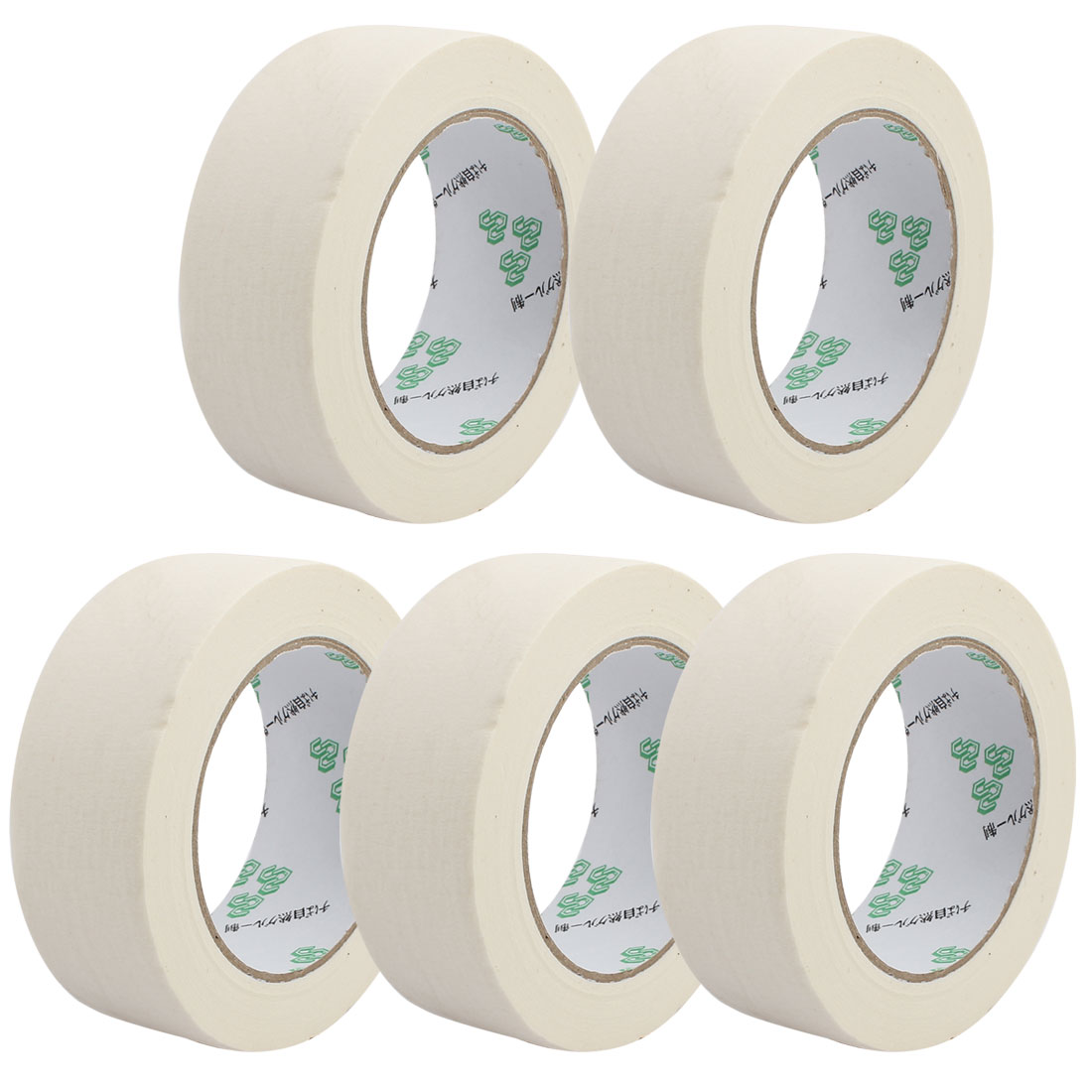 5PCS 35mm Width Adhesive Paper Painting Writing Decoration Tape White 50M Length