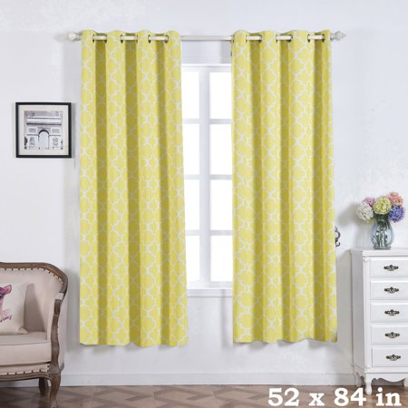 BalsaCircle 52 x 84-Inch Lattice Design Curtains Drapes Panels Window Treatments - Home Decorations