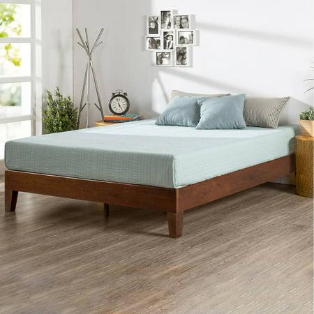 Zinus Marissa Deluxe Solid Acacia Wood Platform Bed, Antique Espresso,