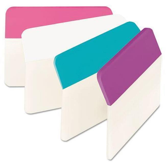 3M 686APWAV 2 x 1.5 in. Durable Angled File Tabs, Assorted Pastel Color - 24 Per Pack - image 1 of 1