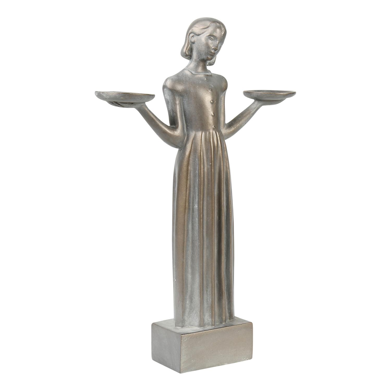 """Outdoor Garden Sculpture Savannah's Bird Girl Statue (Small 15"""") by Potina"""