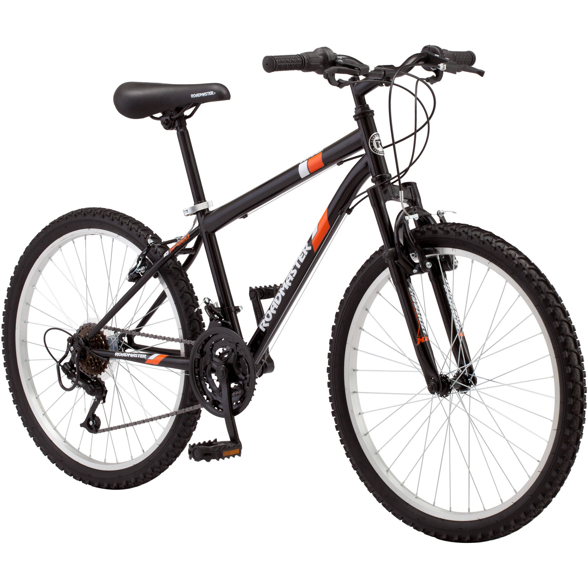 "24"" Roadmaster Granite Peak Boys Mountain Bike, Black"