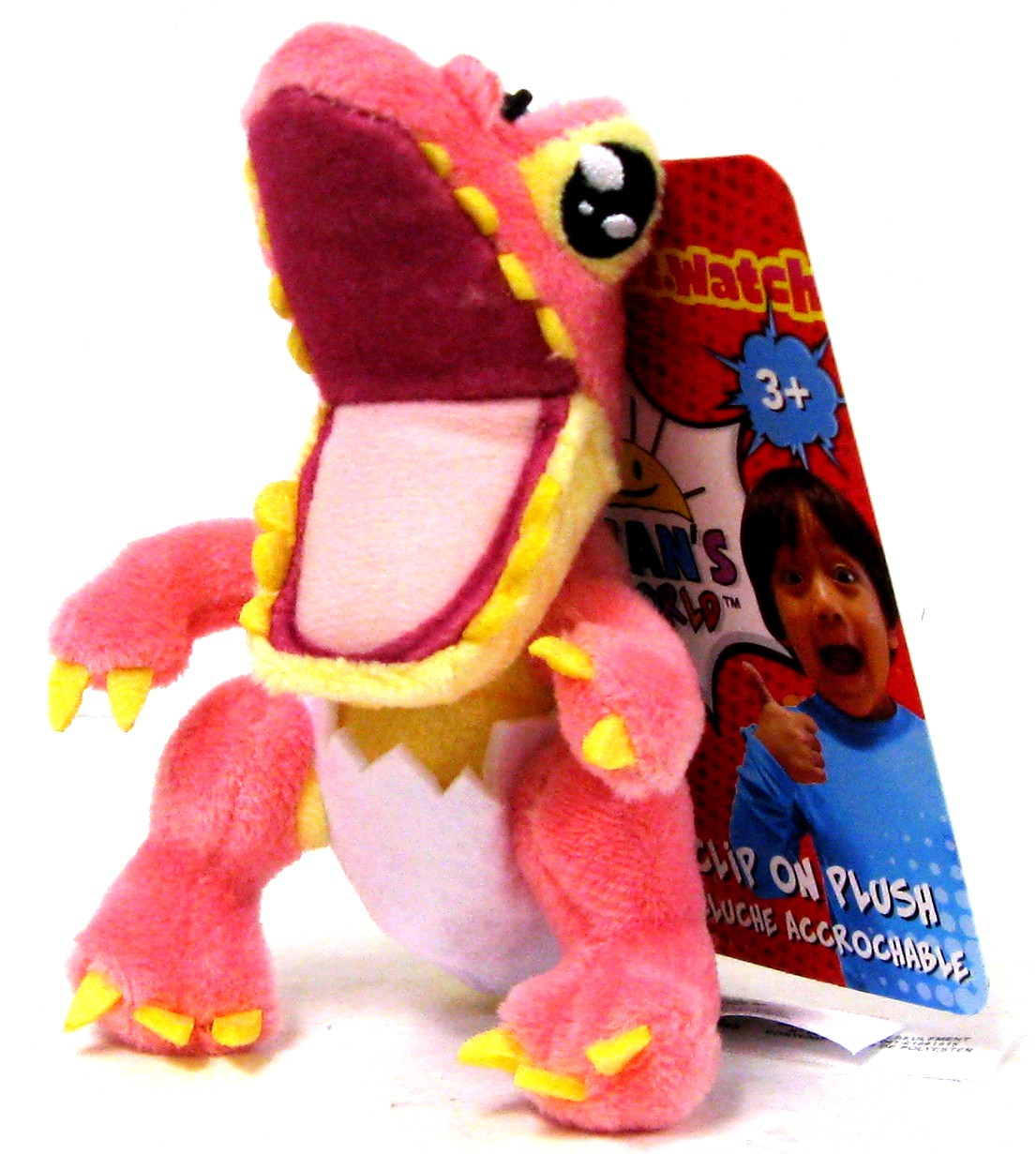 Ryan S World Pink Dinosaur Clip On Plush Walmart Com
