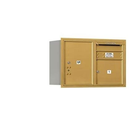 Double Rear Doors (Salsbury 3705D-01GRU 5 Door High Unit 20 Inches - Double Column - 1 Mb3 Door - 1 Pl5 - Gold - Rear Loading - Usps Access )