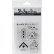 Two Paper Divas Clear Stamps 7 Inch X 6.5 Inch-Bless Your Nest