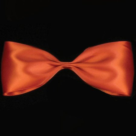 "Copper Orange Double Face Satin Craft Ribbon .25"" x 216 Yards"