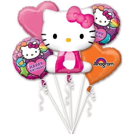 Hello Kitty Rainbow Balloon Bouquet (Each) - Party Supplies - Party City Hello Kitty Balloons