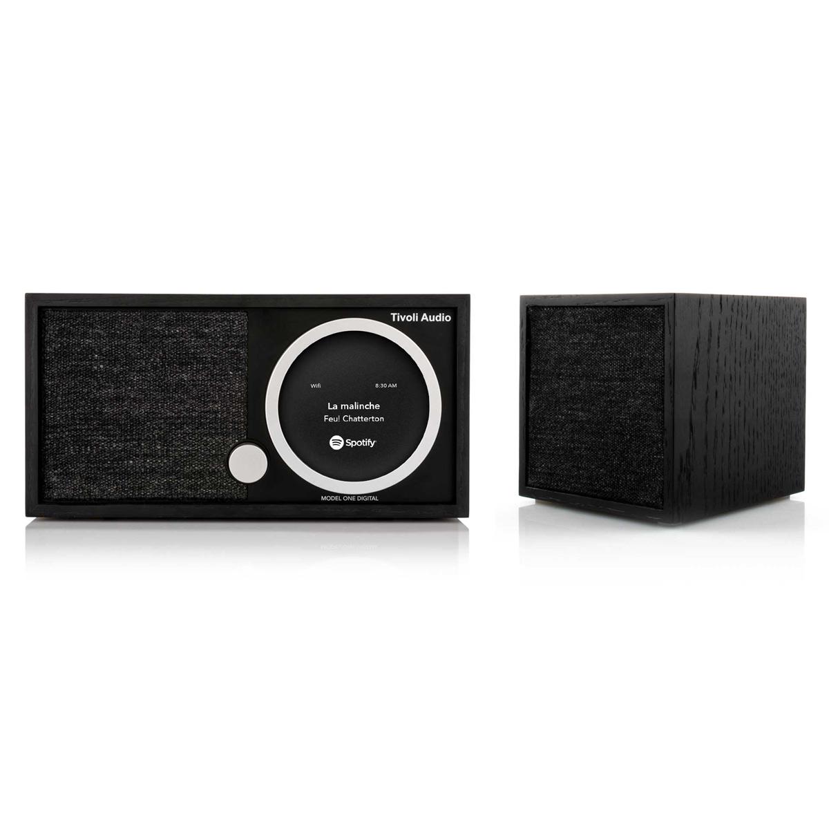 Tivoli Audio Model One Digital FM Wi-Fi Bluetooth Radio Wireless Stereo Music System with CUBE Speaker by Tivoli Audio