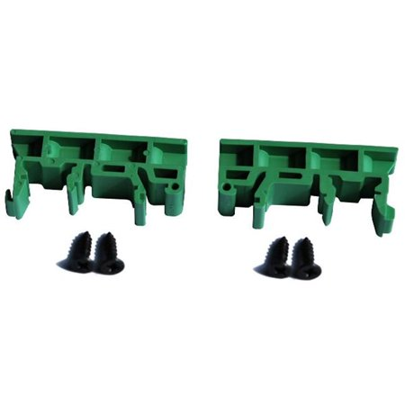 Tycon Systems DIN-ClipKit-Uni Universal Din Rail Mounting Clips With Bracket For Vertical Mounting Din Rail Bracket Kit